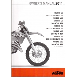 Owner´s Manual  motos KTM del año 2011