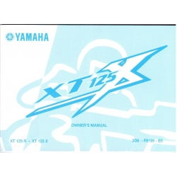 Manual de usuario Yamaha XT 125 X