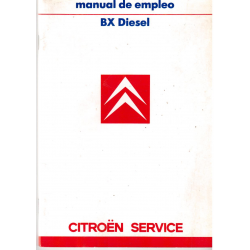 Manual de empleo Citroen BX Diesel