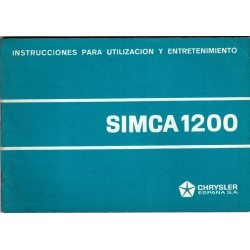 Manual de instrucciones  Simca1200