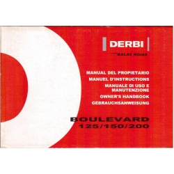 Manual de usuario Derbi Boulevard 125 / 150 /200
