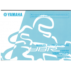 Manual de usuario Yamaha YBR 125 ED
